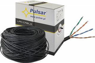Kabel UTP Pulsar PU-NC301 kat. 5e 305m (24AWG, zewnętrzny)