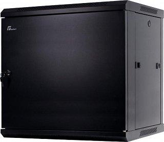 """Szafa rack GetFort 19"""" 12U/600mm drzwi metalowe, wisząca, czarna (WGF12-66EH-WSB)"""